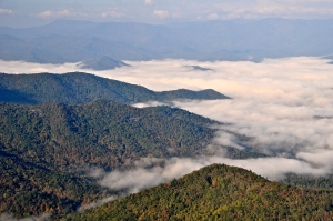 View from Jones Knob near Highlands, NC Fall 2012 (Photograph: Ross Peters)