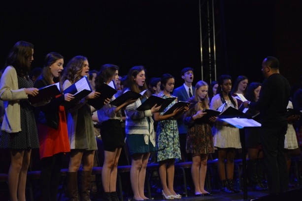 The St. George's Independent School Upper School Choir sings during the 2015 Service of Lessons and Carols