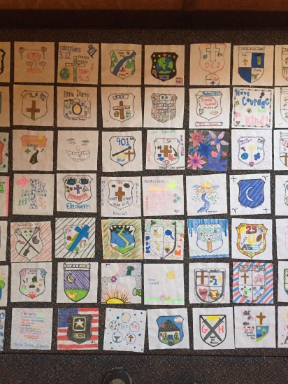 Every Junior made a square for the Class of 2017 quilt