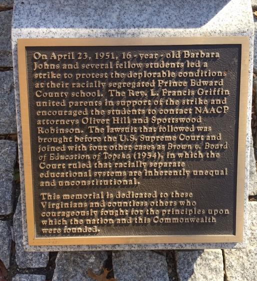 Marker Beside the Virginia Civil Rights Memorial