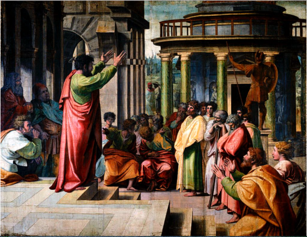 St. Paul Preaching in Athens by Raphael