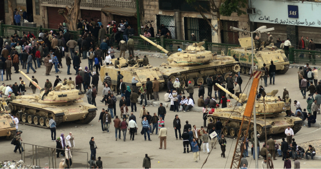 Abrams Tanks in Cairo during the Arab Spring (http://free-images.gatag.net/images/201106271000.jpg )